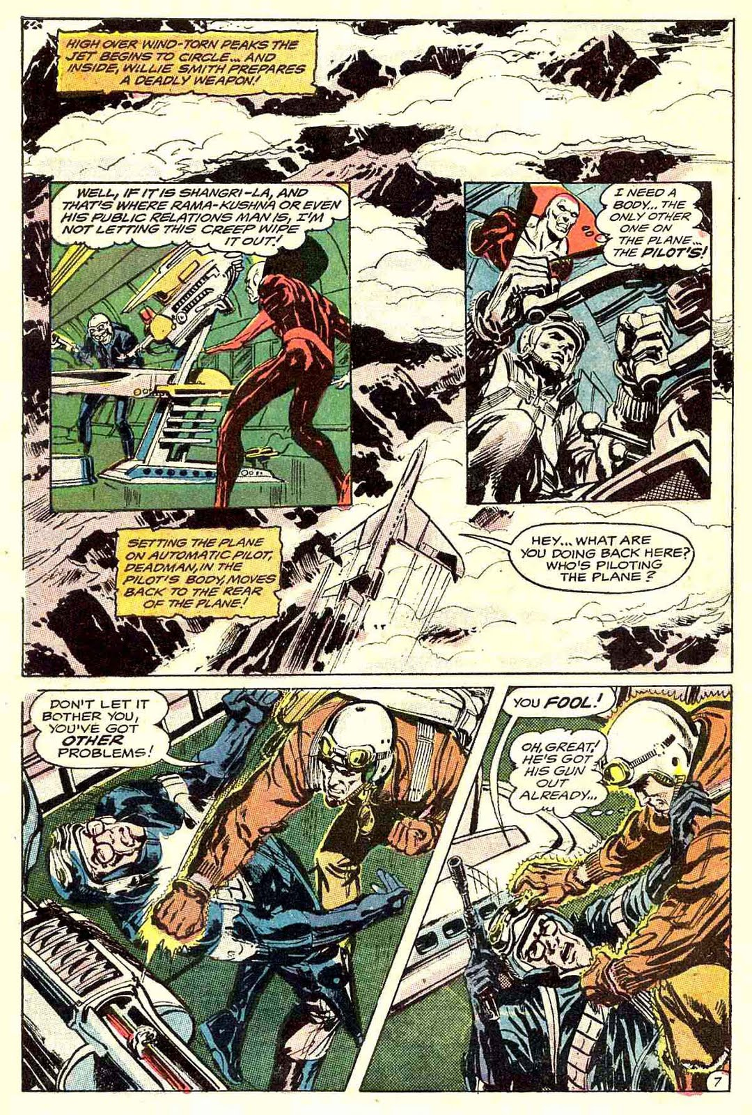 Strange Adventures v1 #216 dc 1960s silver age comic book page art by Neal Adams