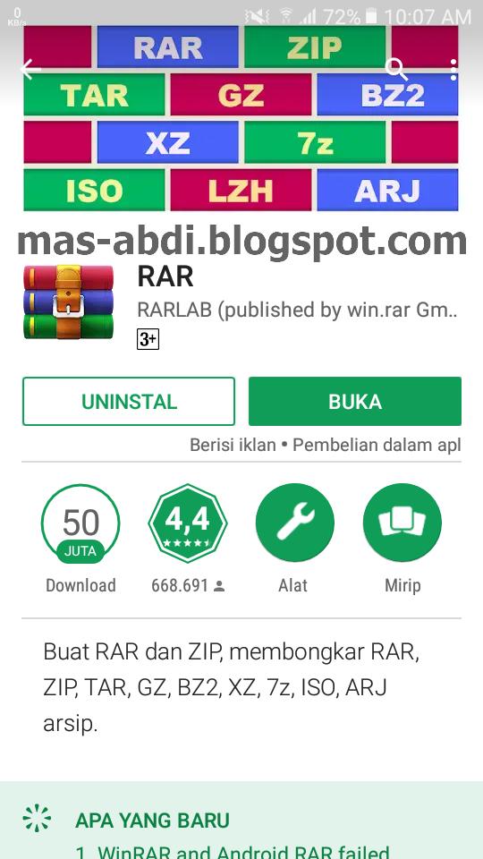 aplikasi buat buka file rar di android