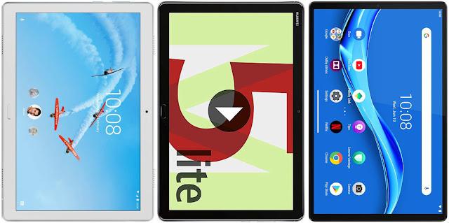 Lenovo Tab P10 vs Huawei Mediapad M5 10 Lite vs Lenovo Tab M10 FHD Plus