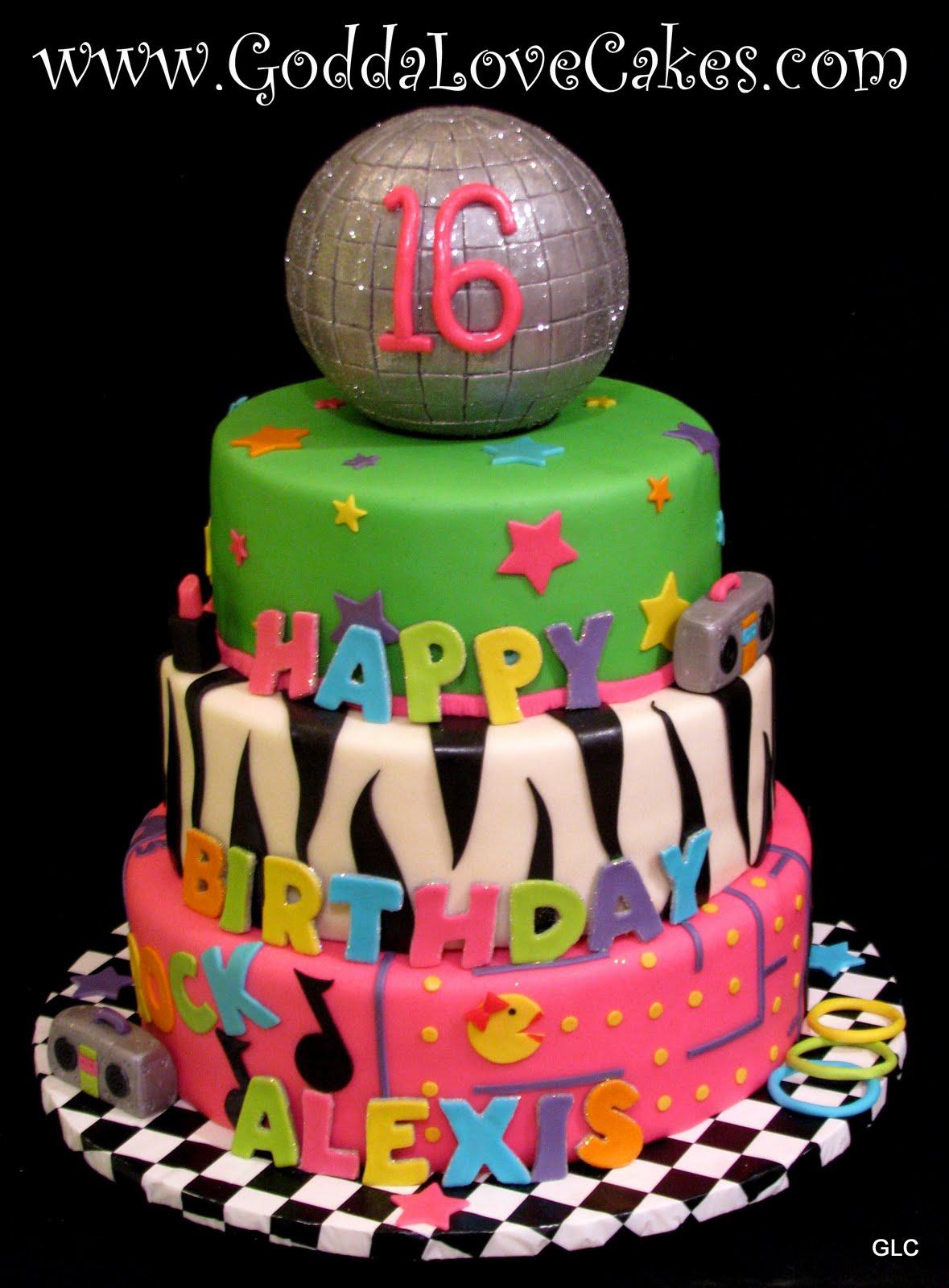 Eighties Cake Decorations