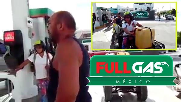 """Exhiben robo descarado en nueva gasolinera """"Full Gas"""", despacha 16 de los 20 litros a un cliente y éste opta por irse sin pagar"""