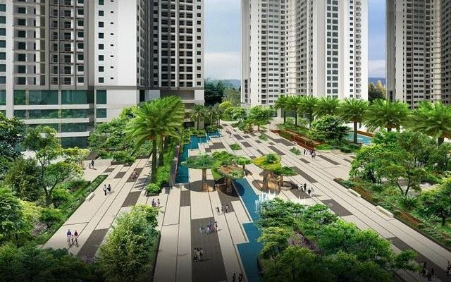 Không gian xanh tại Eco Dream City.