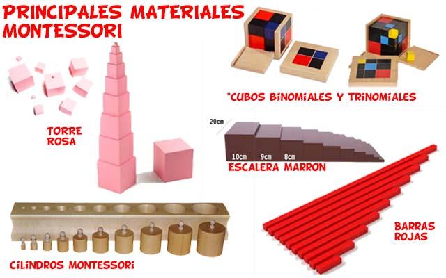 Materiales Montessori mas comunes Desarrollo Sensorial