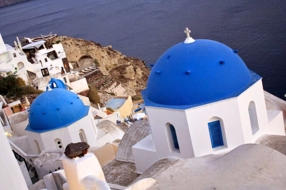 Greek churches in Oia