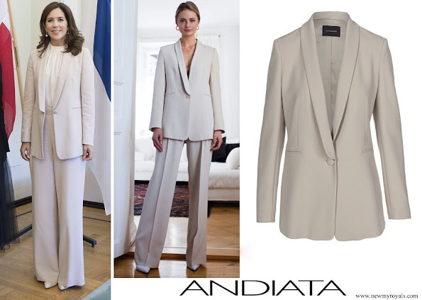 Crown Princess Mary wore Andiata Cecel SP blazer and Gytta trousers