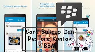 cara backup dan restore kontak BBM