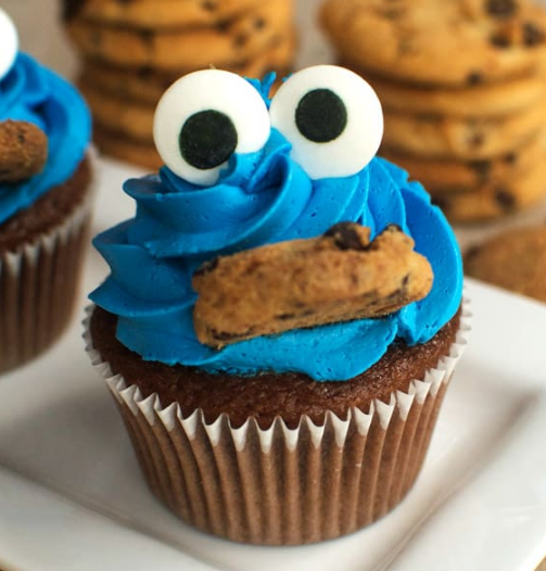 COOKIE MONSTER CUPCAKES #dessert #cupcakes