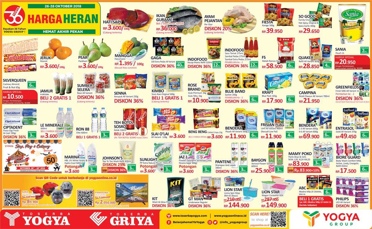 Yogya - Promo Katalog Hemat Akhir Pekan Periode 26 - 28 Oktober 2018
