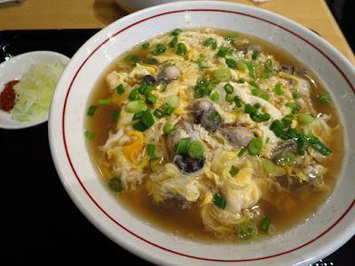 Yomoda Soba, oyster tamago toji soba