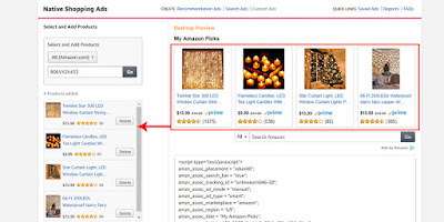 how to create a amazon native shopping ads, custom ads