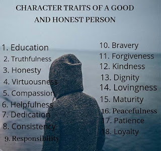 Character traits of a good and honest person
