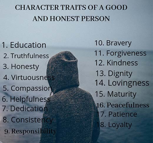 Good character traits of a person | 18 good character traits
