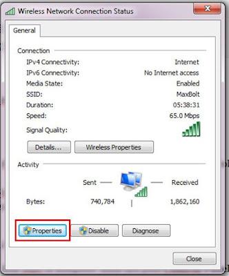 Mengubah Setting DNS pada Windows 7