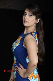 Actress Anchor Manjusha Pictures in Blue Short Dress at Jaguar Movie Success Meet .COM 0003.jpg