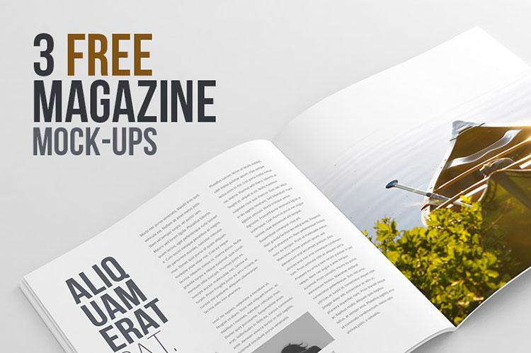 3 Free Magazine Mock-ups