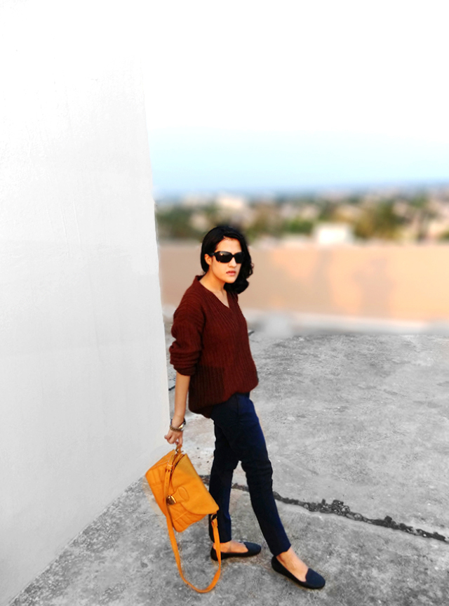 mustard cross bag, personal style  blog