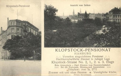 Klopstock Pension, Hamburg - secret Abwehr training centre