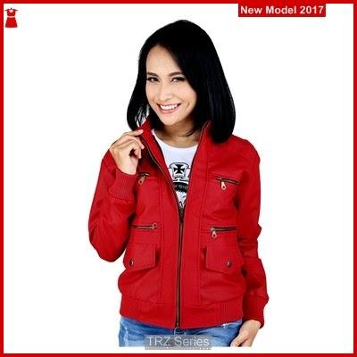 TRZ68 Jaket Model Sintetis Kulit Wanita RDI Murah