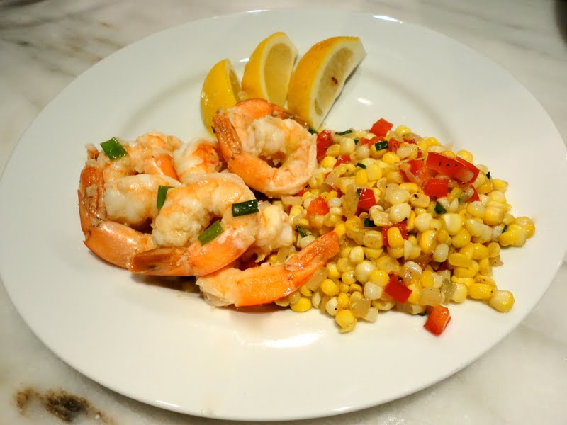 Sauteed Shrimp with Coconut Oil, Ginger and Coriander with