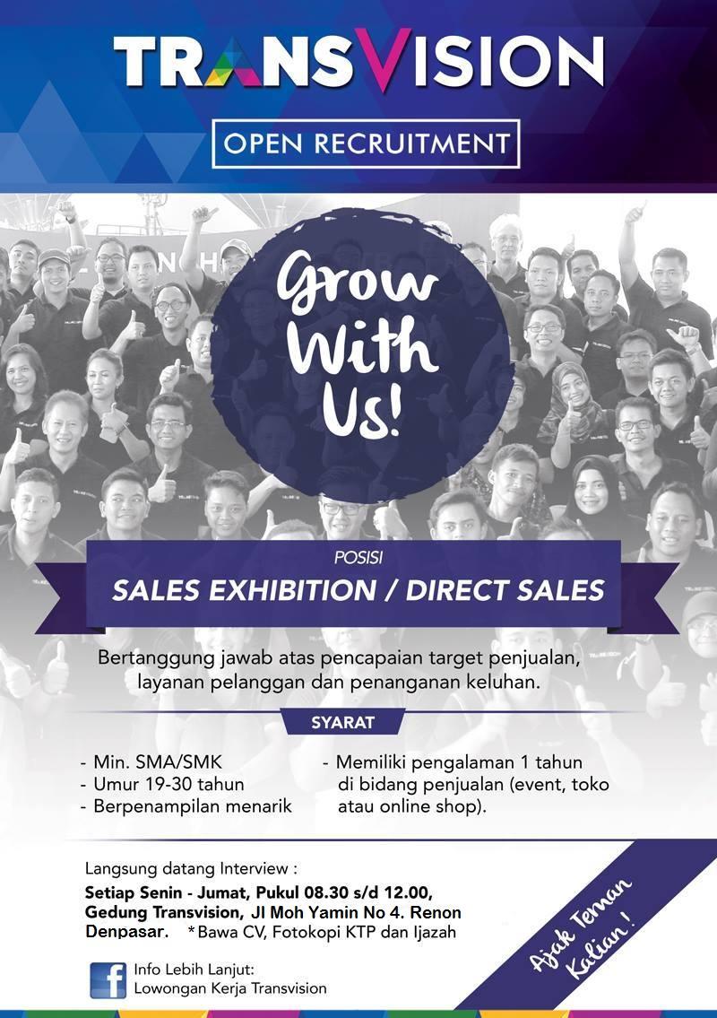 Terminalhrd Lowongan Kerja Sma Smk Sederajat Transvision Denpasar Bali 2019