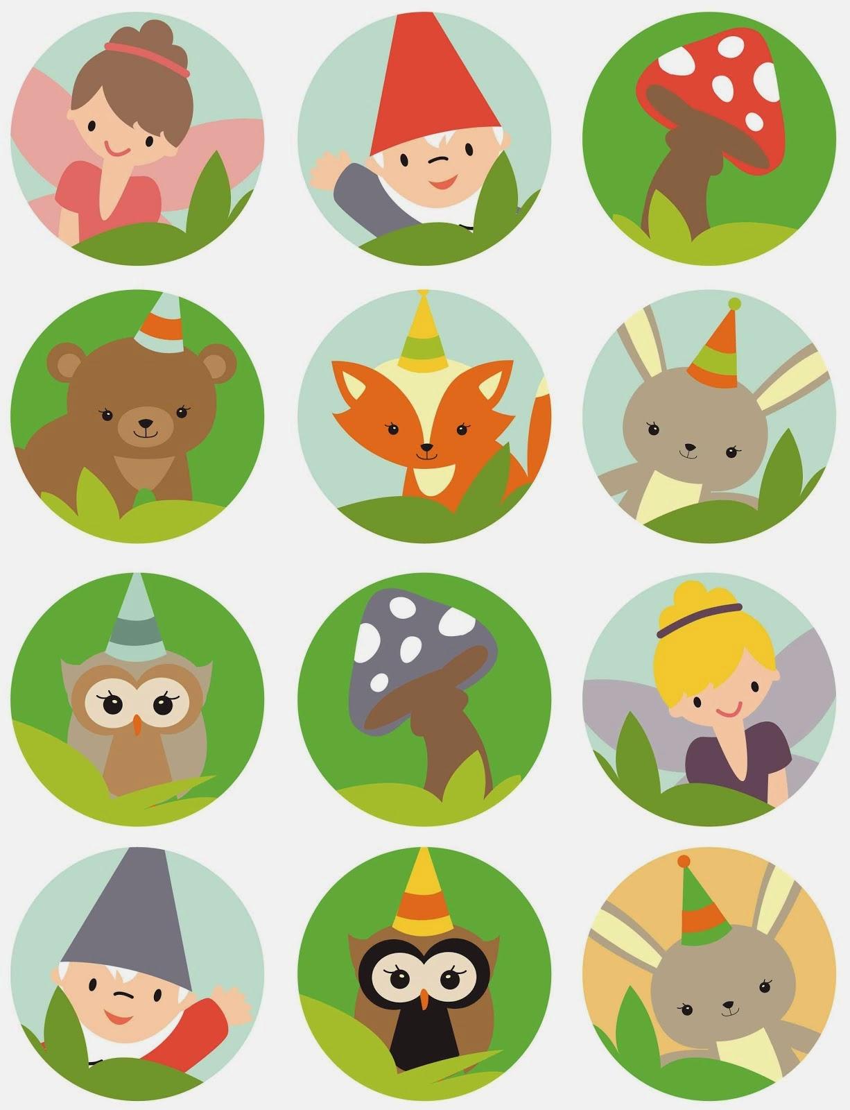 Woodland Fairies Birthday Free Printable Mini Kit