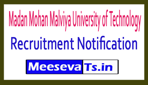 Madan Mohan Malviya University of Technology MMMUT Recruitment