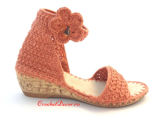 Crocheted Sandals on Cork Sole