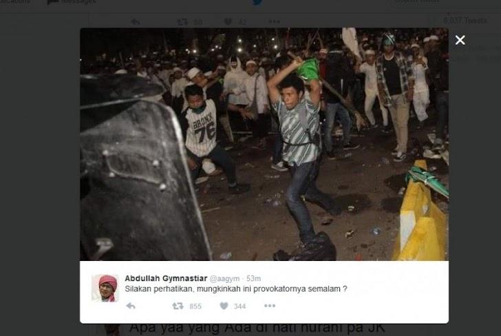 Ini Foto yang Di Unggah Aa Gym Terduga Provokator Demo 4 November