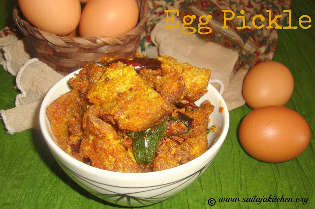 images of Egg Pickle / Guddu Pickle / Andhra Style Egg Pickle / Kodi Guddu Pickle