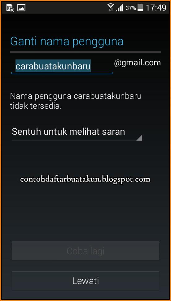 Buat Akun Gmail Indonesia Di HP Android Tanpa Browser