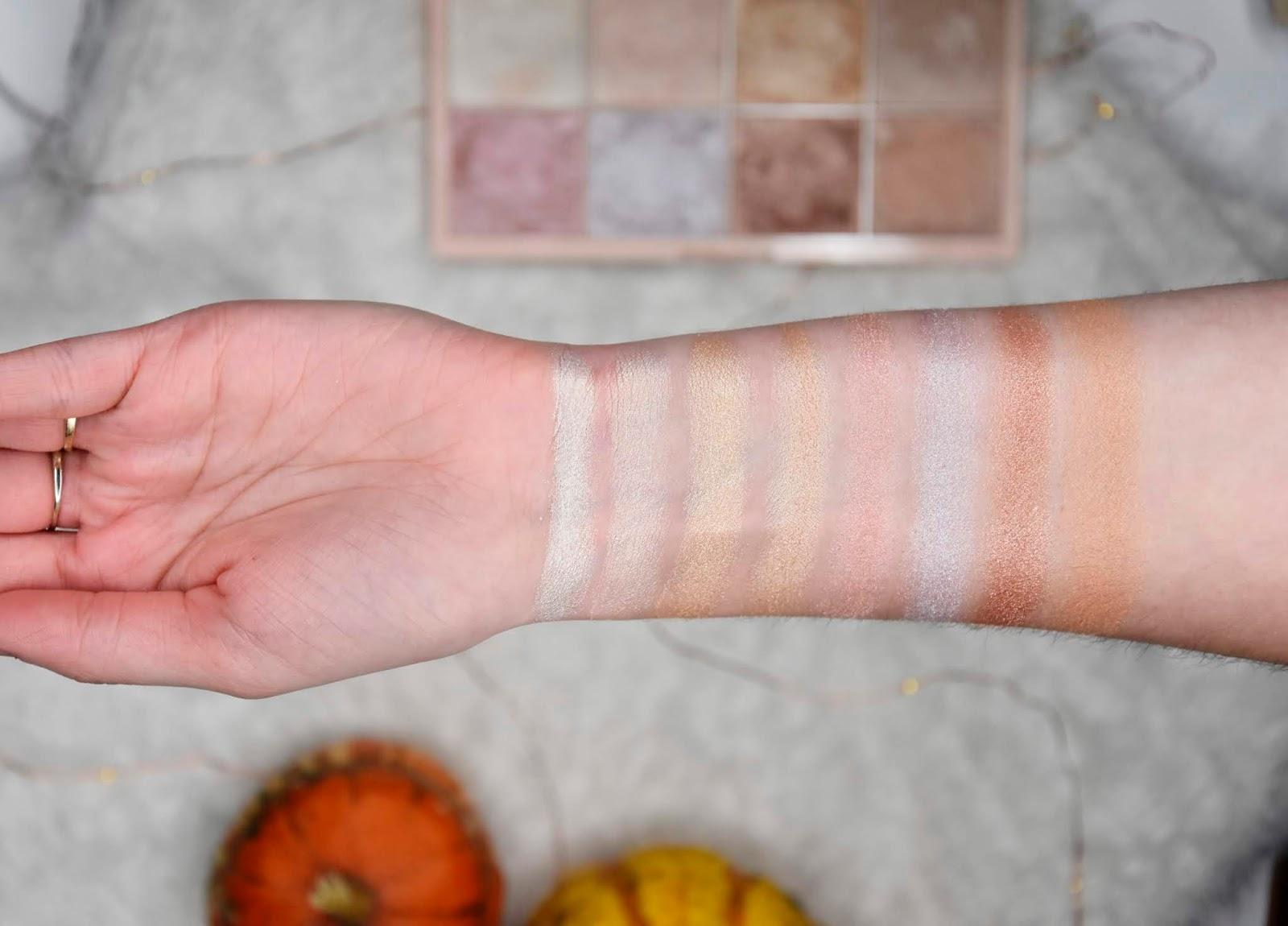 makeup revolution soph x paleta rozświetlaczy kolory