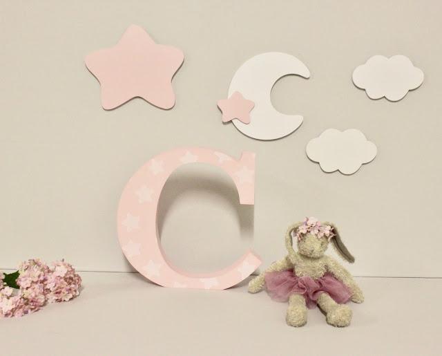 letras y nombres infantiles -decoración infantil personalizada