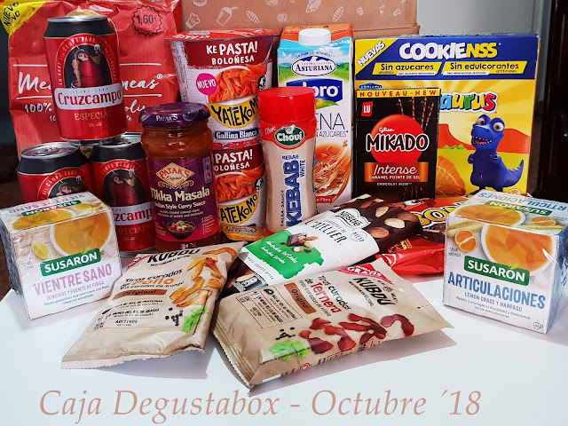 Caja Degustabox - Octubre ´18