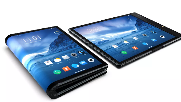 It's a telephone. It's a tablet. It's the world's first fordable smartphone