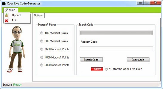 Free Microsoft Points Xbox Live Codes Generator - Games and Hacks