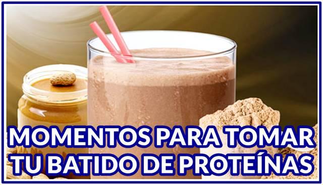 Momentos idóneos para tomar tu batido de proteínas