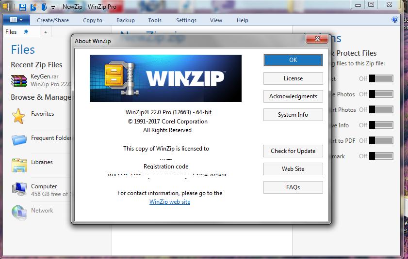 winzip 21.5 serial key
