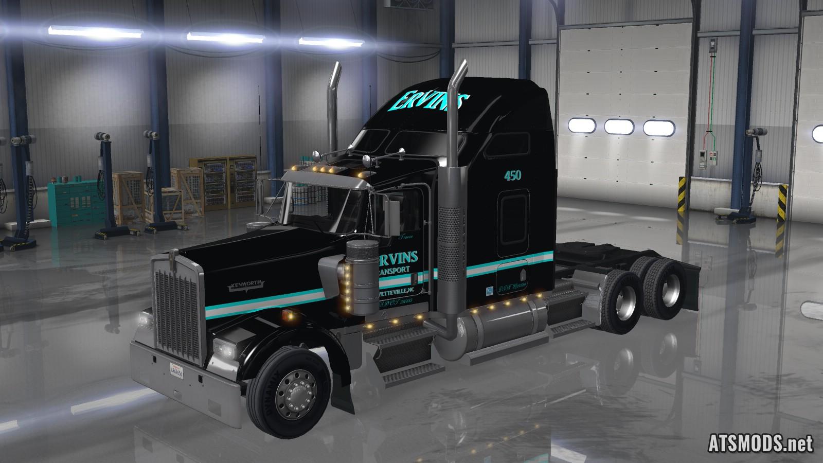 Kenworth W900 Ervins Transport Skin