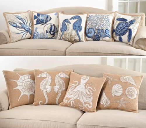 Shabby Chic Coastal Pillows