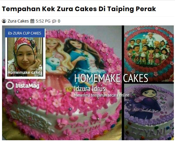 Senarai Penuh Gambar Kek Idzura Homemade Cakes Taiping
