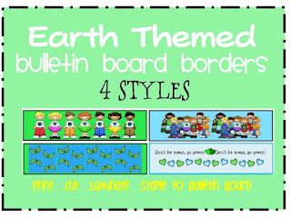 earth bulletin board borders