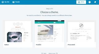 Blog ke lie free theme choose kare