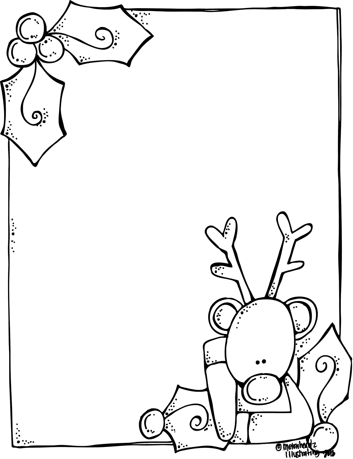 christmas picture frames coloring pages - photo#37
