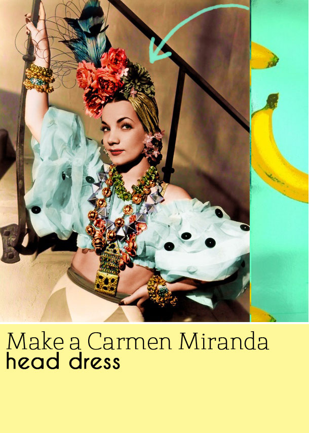 d4bd23a254a Sarah s Threads  How to make a Carmen Miranda hat
