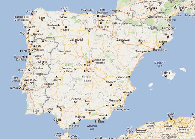 Google Earth Map Of Spain.Madrid Spain Google Earth
