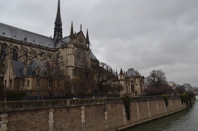 Notre Dame Cathedral and the river in Paris