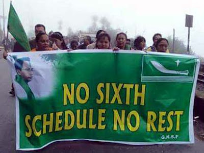 No sixth schedule no rest - GNLF