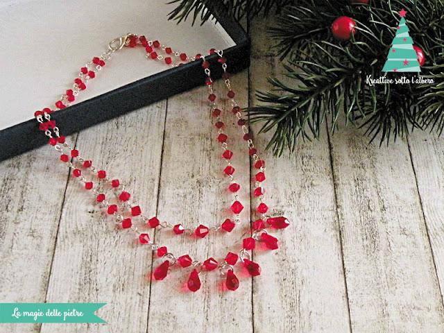 Girocollo natalizio in Swarovski