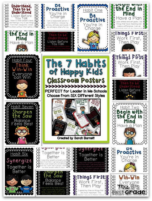 7 Habits for Happy Kids Posters Class Set