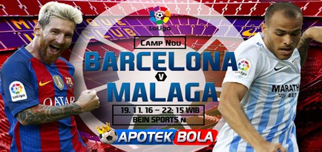 Prediksi Pertandingan Barcelona vs Malaga 19 November 2016